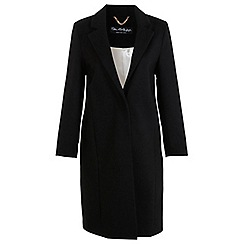 Miss Selfridge - Black longline coat