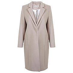 Miss Selfridge - Nude longline coat
