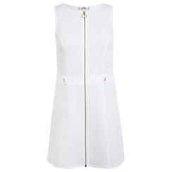 Miss Selfridge - Petites textured zip up dress