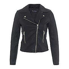 Miss Selfridge - Ruby faux leather biker