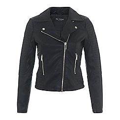 Miss Selfridge - Ruby faux leather biker