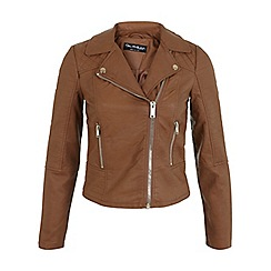 Miss Selfridge - Tan ruby biker