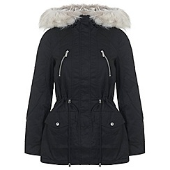 Miss Selfridge - Black parka