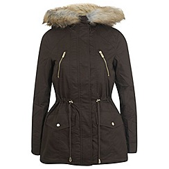 Miss Selfridge - Khaki parka