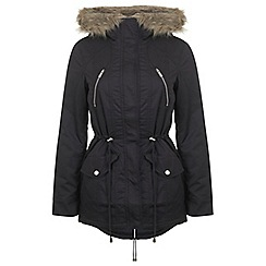 Miss Selfridge - Dark navy parka