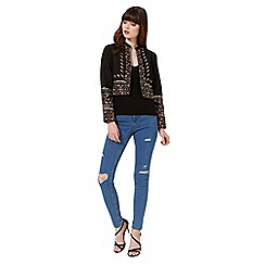 Miss Selfridge - Black embellished jacket