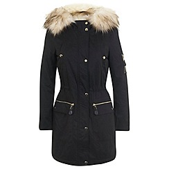 Miss Selfridge - Black luxe parka