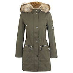 Miss Selfridge - Khaki luxe parka