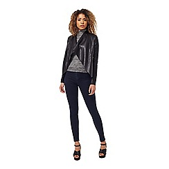 Miss Selfridge - Black waterfall jacket