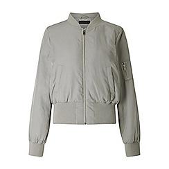 Miss Selfridge - Grey bomber jacket