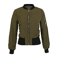 Miss Selfridge - Khaki bomber jacket