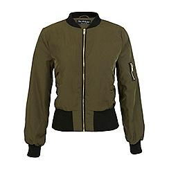 Miss Selfridge - Khaki bomber jacket
