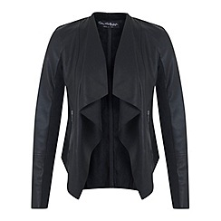Miss Selfridge - Black waterfall jacket