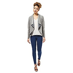 Miss Selfridge - Grey waterfall jacket