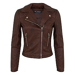 Miss Selfridge - Brown ruby biker