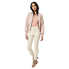 Miss Selfridge - Blush bomber jacket