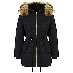Miss Selfridge - Black longline puffa