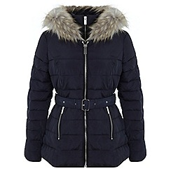 Miss Selfridge - Navy belted puffer
