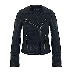 Miss Selfridge - Faux leather biker jacket