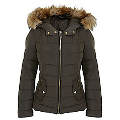 Miss Selfridge - Khaki short puffa