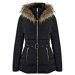 Miss Selfridge - Black belted puffer
