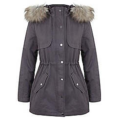 Miss Selfridge - Grey killer p parka