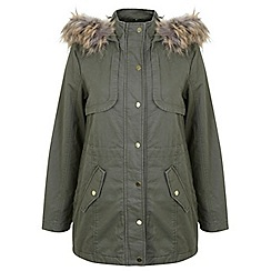 Miss Selfridge - Khaki killer p parka
