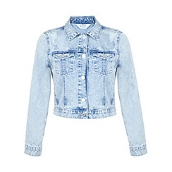 Miss Selfridge - Bleach ripped denim jacket