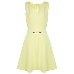 Miss Selfridge - Belted notch skater dress