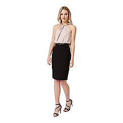 Miss Selfridge - Twisted halter belted dress