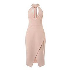 Miss Selfridge - Plunge halter neck dress