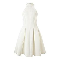 Miss Selfridge - Halter scuba skater dress
