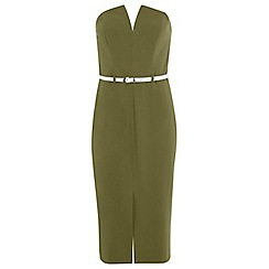 Miss Selfridge - Belted bandeau pencil dress