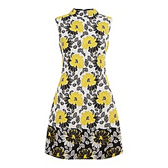 Miss Selfridge - Yellow jacquard shift dress