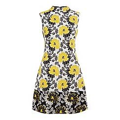 Miss Selfridge - Yellow jacquard shift dress