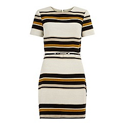 Miss Selfridge - Stripe belted shift dress