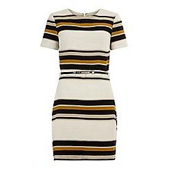 Miss Selfridge - Stripe belted shift dress