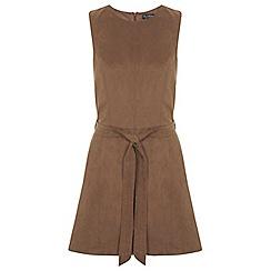 Miss Selfridge - Suedette tunic dress
