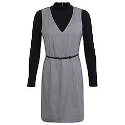 Miss Selfridge - Dogtooth rollneck dress