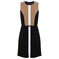 Miss Selfridge - Colourblock belted dress