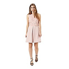 Miss Selfridge - Nude lace overlay dress