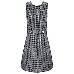 Miss Selfridge - Mono jacquard shift dress
