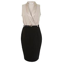 Miss Selfridge - Luxe belted pencil dress