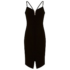Miss Selfridge - V trim strappy pencil dress