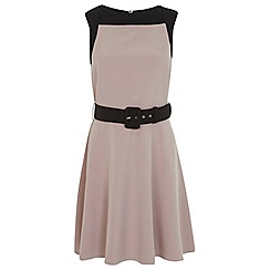 Miss Selfridge - Block belted skater dress