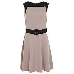 Miss Selfridge - Block belted skater dress
