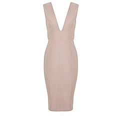 Miss Selfridge - Deep plunge tailored dress