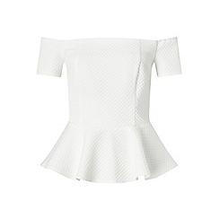 Miss Selfridge - White jacquard bardot top