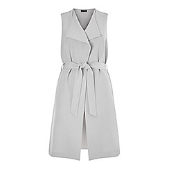 Miss Selfridge - Grey stitch sleeveless jacket