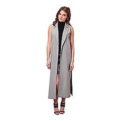 Miss Selfridge - Maxi sleeveless jacket